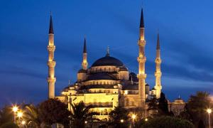 The Sultanahmet Mosque, also known as the Blue Mosque, is in Istanbul, Turkey. It was built during the early 17th century. Credit: Steve Allen | Dreamstime